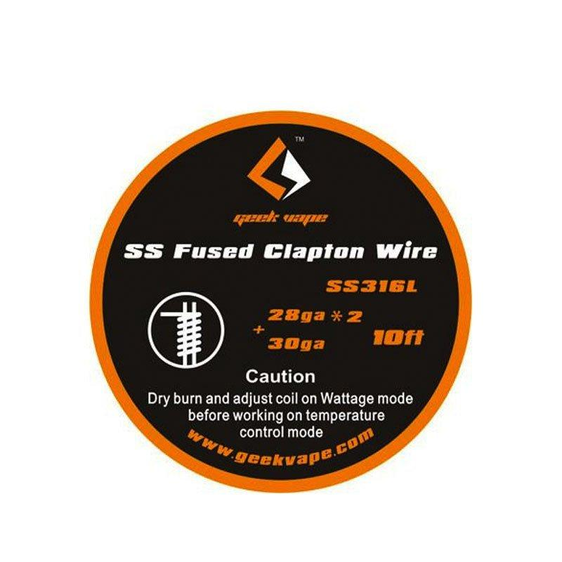GEEKVAPE SS FUSED CLAPTON WIRE (SS316L) 28GA*2+30GA (10FT)