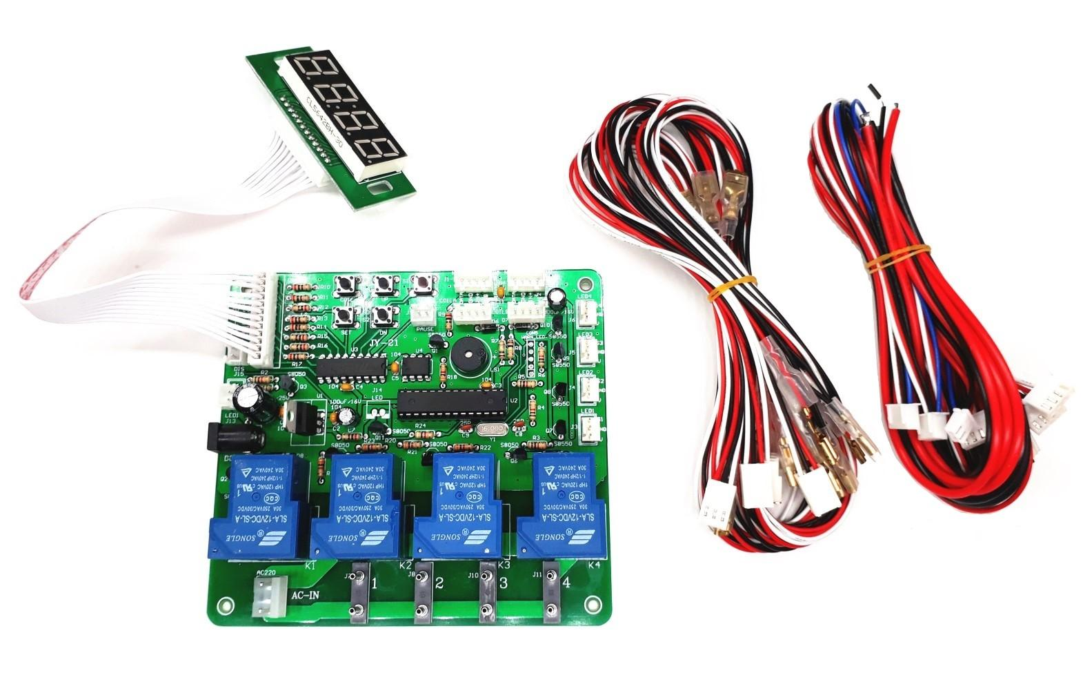 Juyao Electronic Automotive Electronics Pcb Assembly Circuit Board With Components Jy 21 4 Digits 1 Devices Banknotes Coins Operated Timer Time Control For Car Washing Machine Vending Machine234700