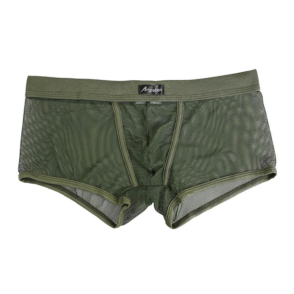 Mens Leather Boxer Briefs Shorts Underwear Bulge Pouch Strong Underpants Clothes
