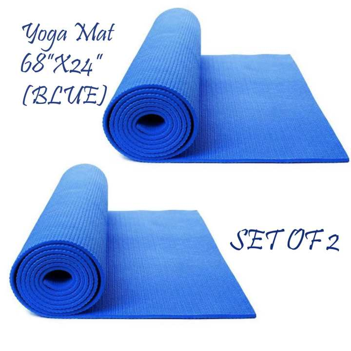 "Yoga Mat 68""x24"" (Dark Blue) Set Of 2"