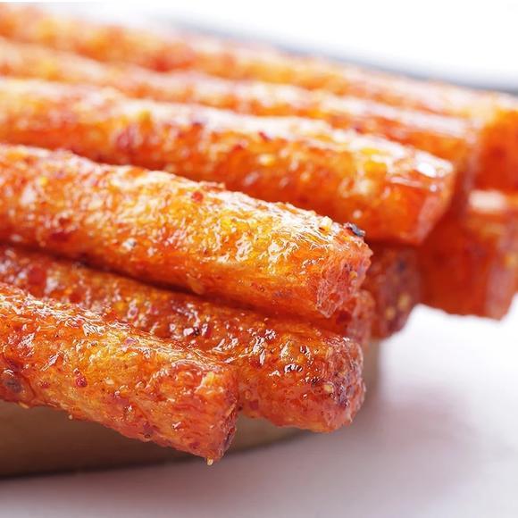 Weilong Kiss Burn Spicy Big Roll Latiao Snack 78g