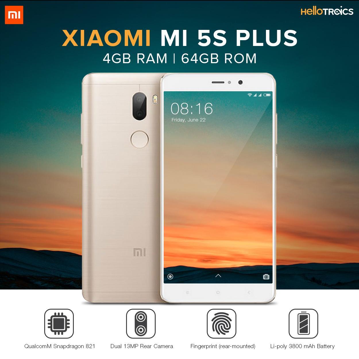 Xiaomi Mi 5s Plus 4gb Ram 64gb Rom Gold Lazada Ph