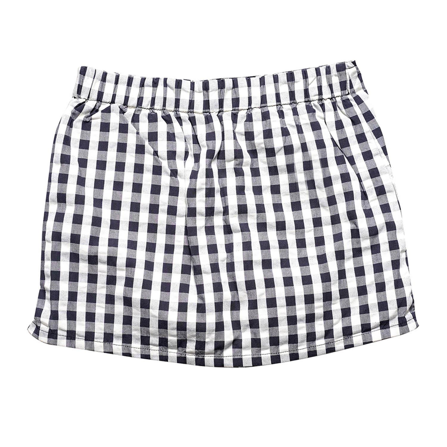 BLACK SHEEP Gingham Shorts w/ Ruffled Hem