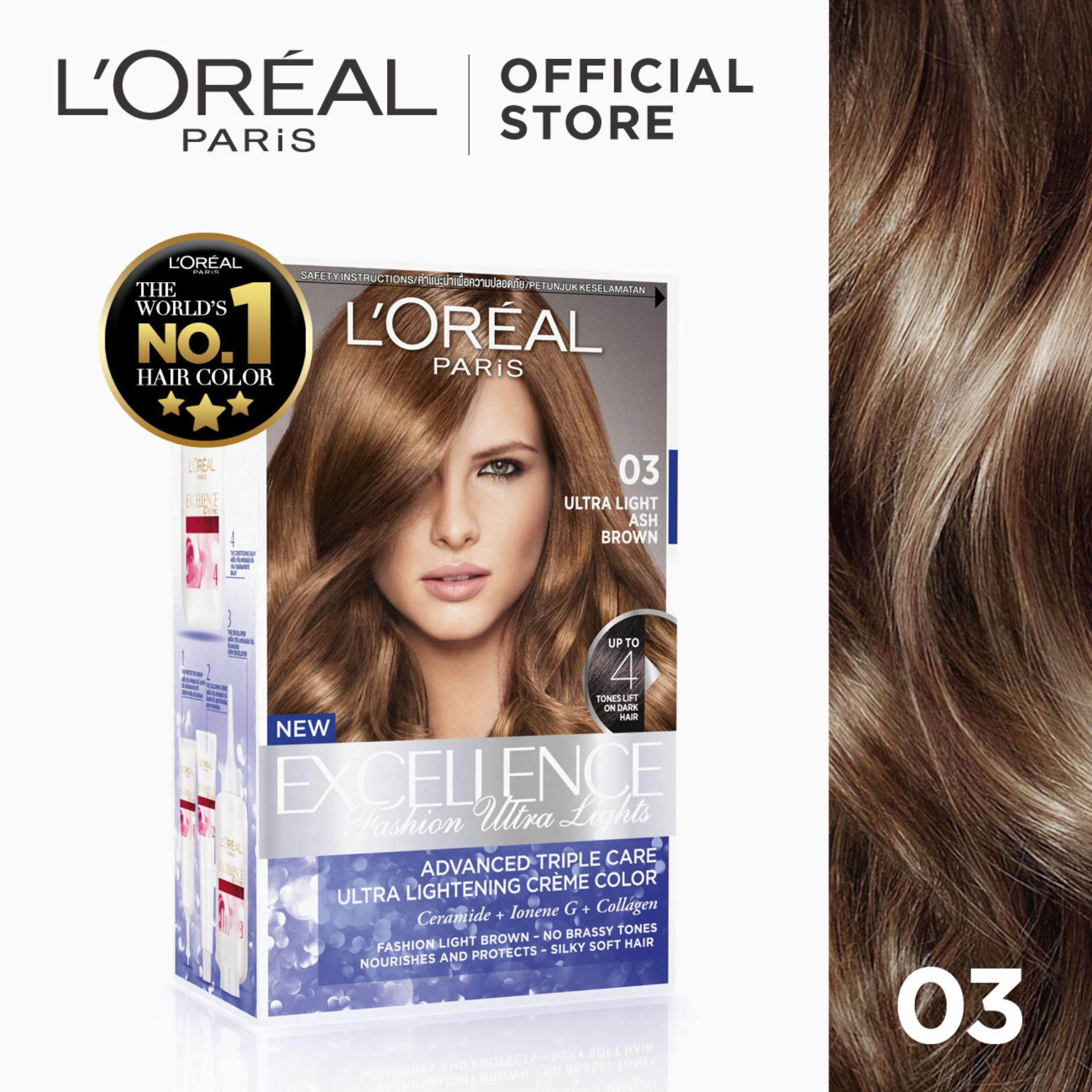 Excellence Fashion Ultra Lights Hair Color 03 Ash Brown Worlds