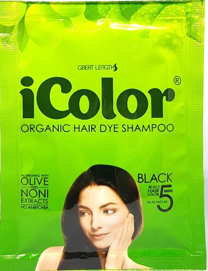 Icolor Organic Hair Dye Shampoo Black 25ml X 10 Sachets Lazada Ph