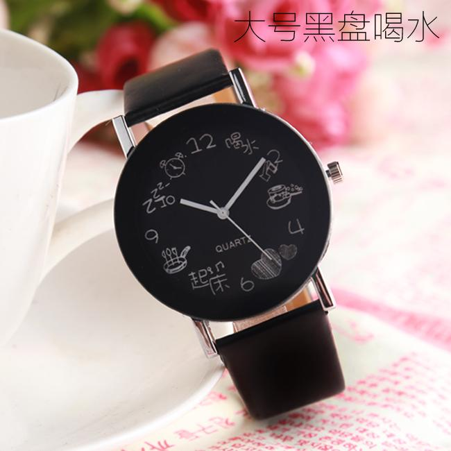 watch watches women Fresh Korean Style Simple Belt Waterproof White Couples Electronic Quartz Watches High Junior High School Students watch watches