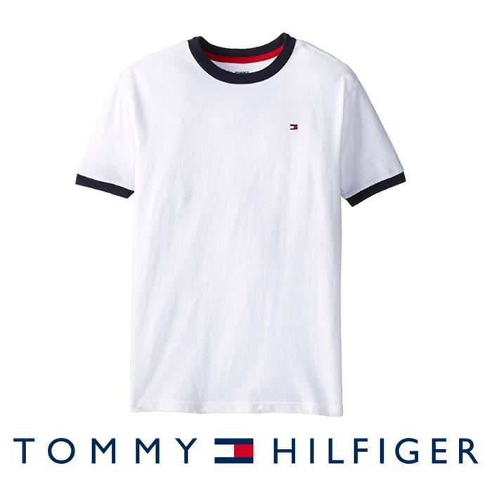 e0db70d5 Product details of Tommy Hilfiger Boys Core Crew-Neck Ken T-Shirt For Big  Boys - Classic White
