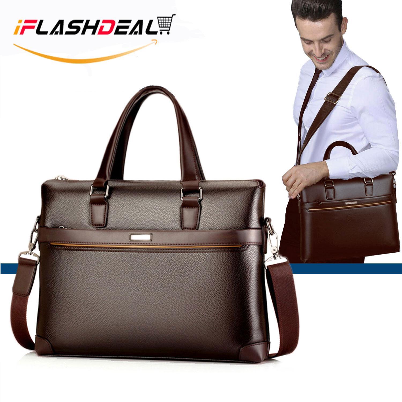 Bag Briefcase Pu Leather Shoulder