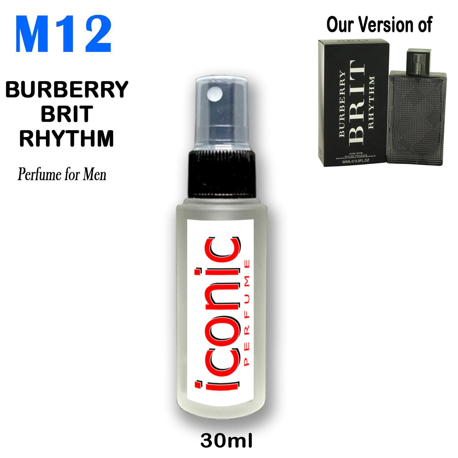 30ml Round M12 Burberry Brit Inspired Perfume for Men