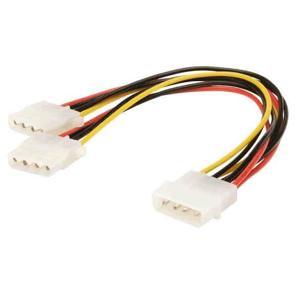 Molex 6 Inches 4 Pin Power Supply Y Splitter Cable