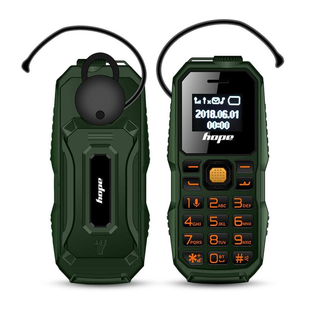 M60 3 in 1 Mini GSM Mobile Phone Bluetooth Dialer Headset with LED Flashlight (Green)