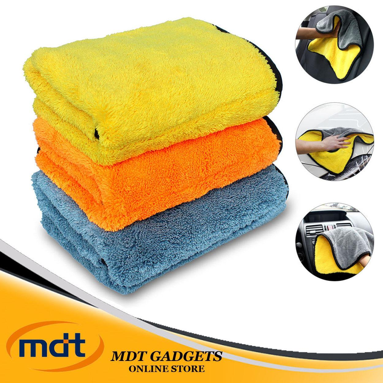 Super Absorbent Car Wash Towel Cleaning Drying Towel (Multicolor) image on snachetto.com
