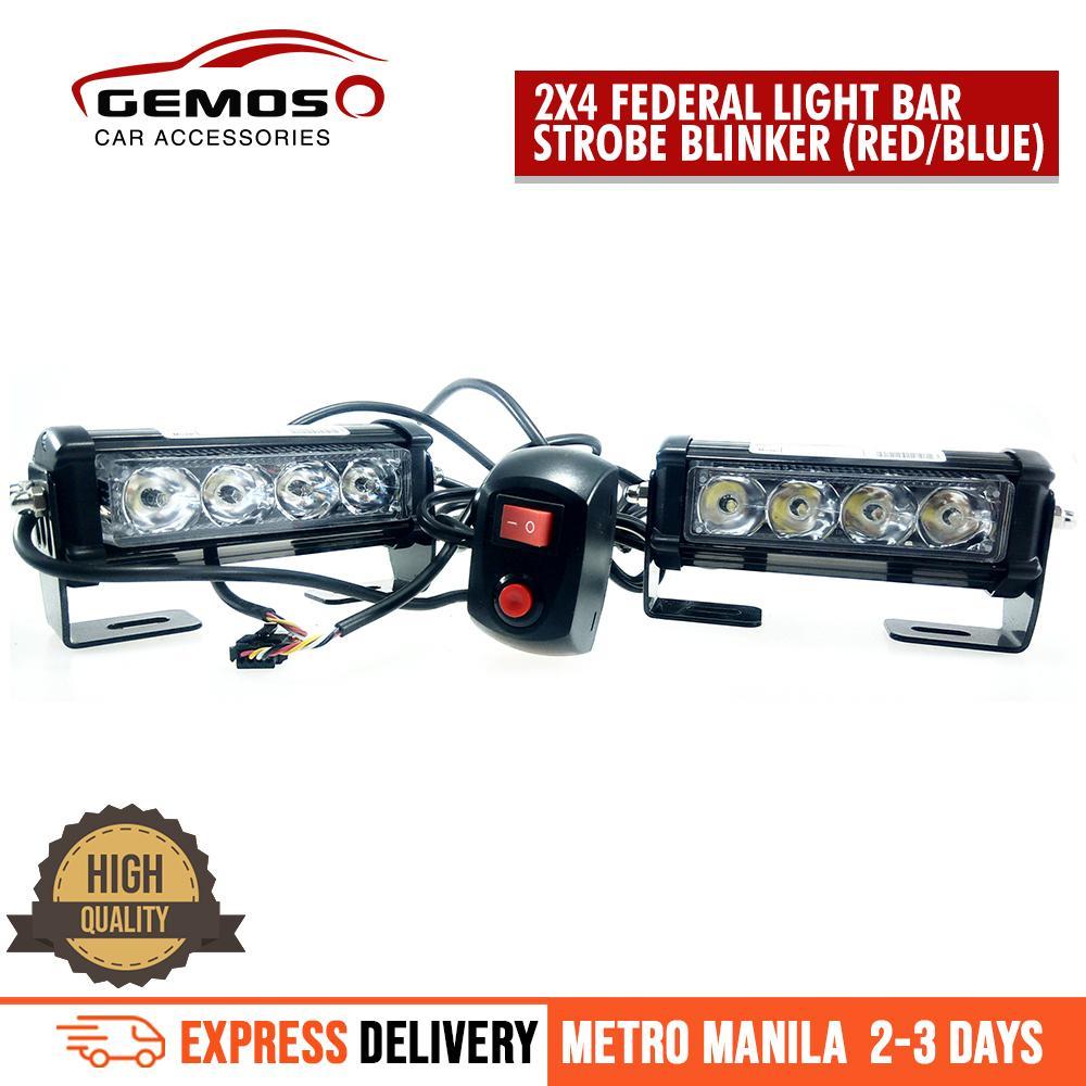 2x4 Federal Light Bar Strobe Blinkerredblue Lazada Ph How To Build High Intensity Led Warning Flasher