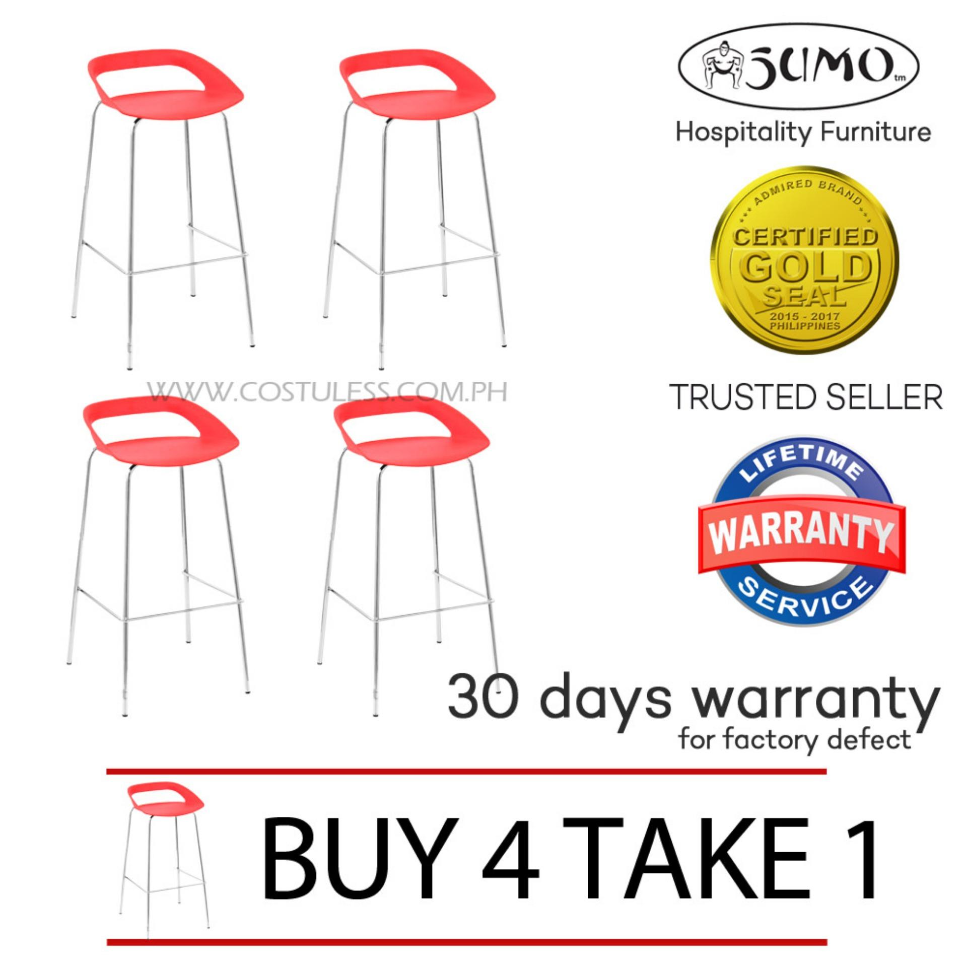 Sumo BC-96ARED Fixed Height Bar Stool (Red) BUY 4 TAKE 1