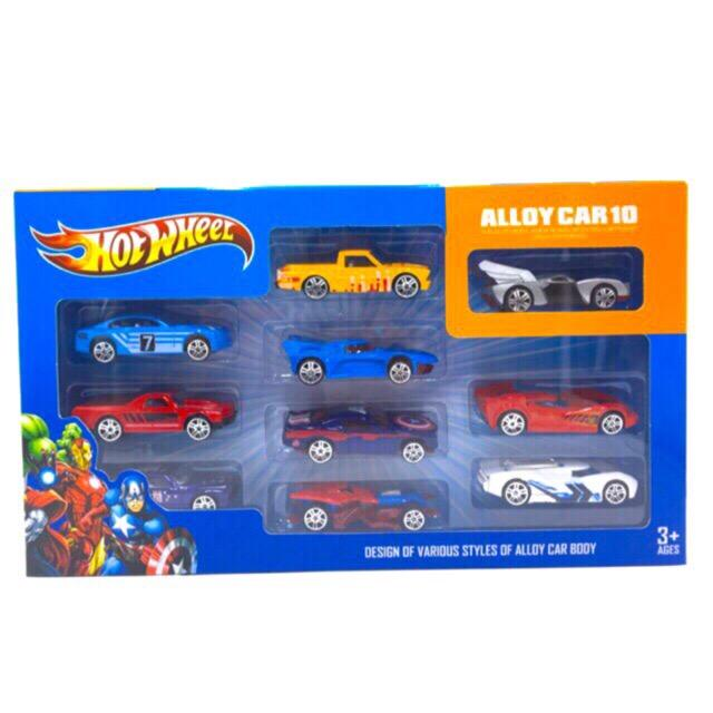Hot Wheel Alloy Car 10 in 1 Box image on snachetto.com
