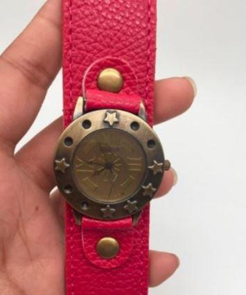 Vintage Watch (Red)