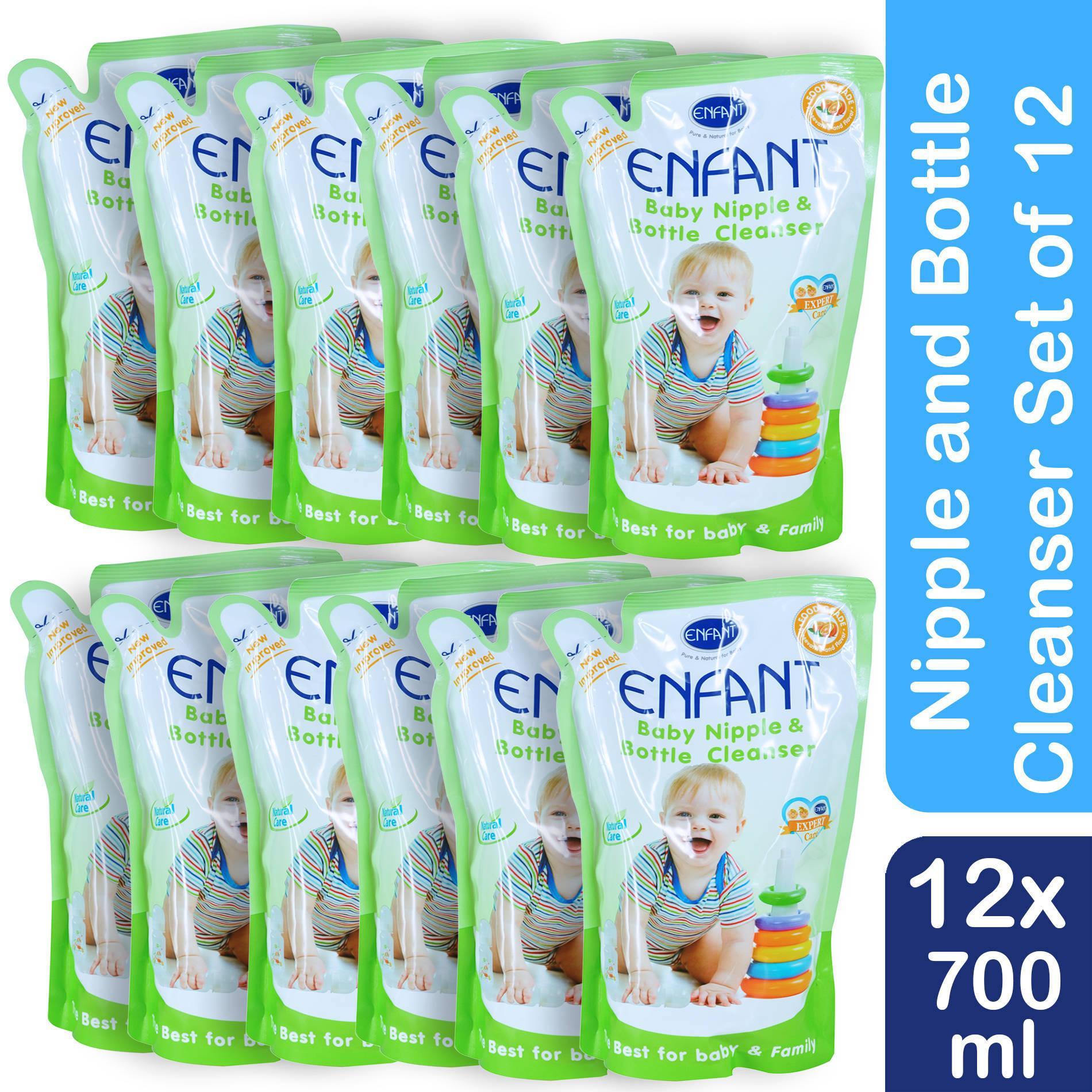 Enfant Nipple and Bottle Liquid Cleanser 700 ml Pack of 12 - thumbnail
