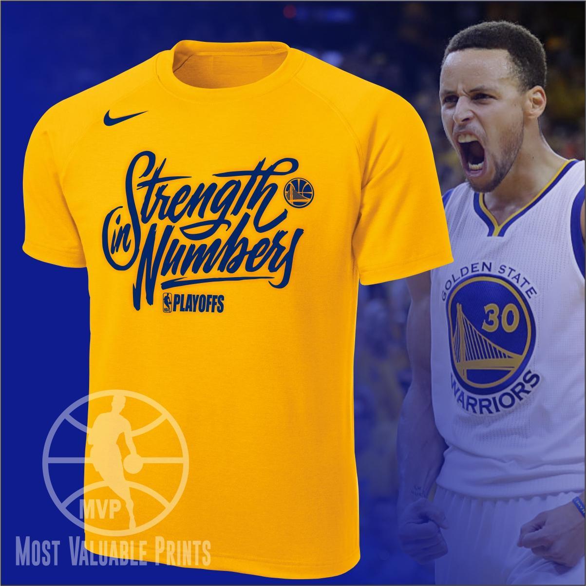 f4825345 MVP NBA Playoffs Golden State Warriors GSW Strength in Numbers Shirt