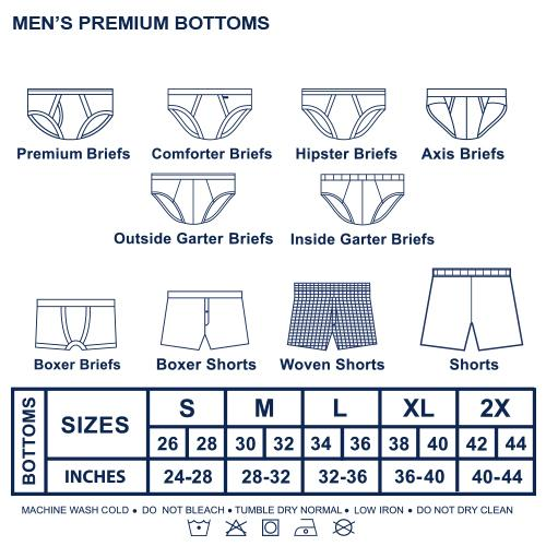 Hanford Men's Primo Hipster Briefs (3in1 Pack) - thumbnail