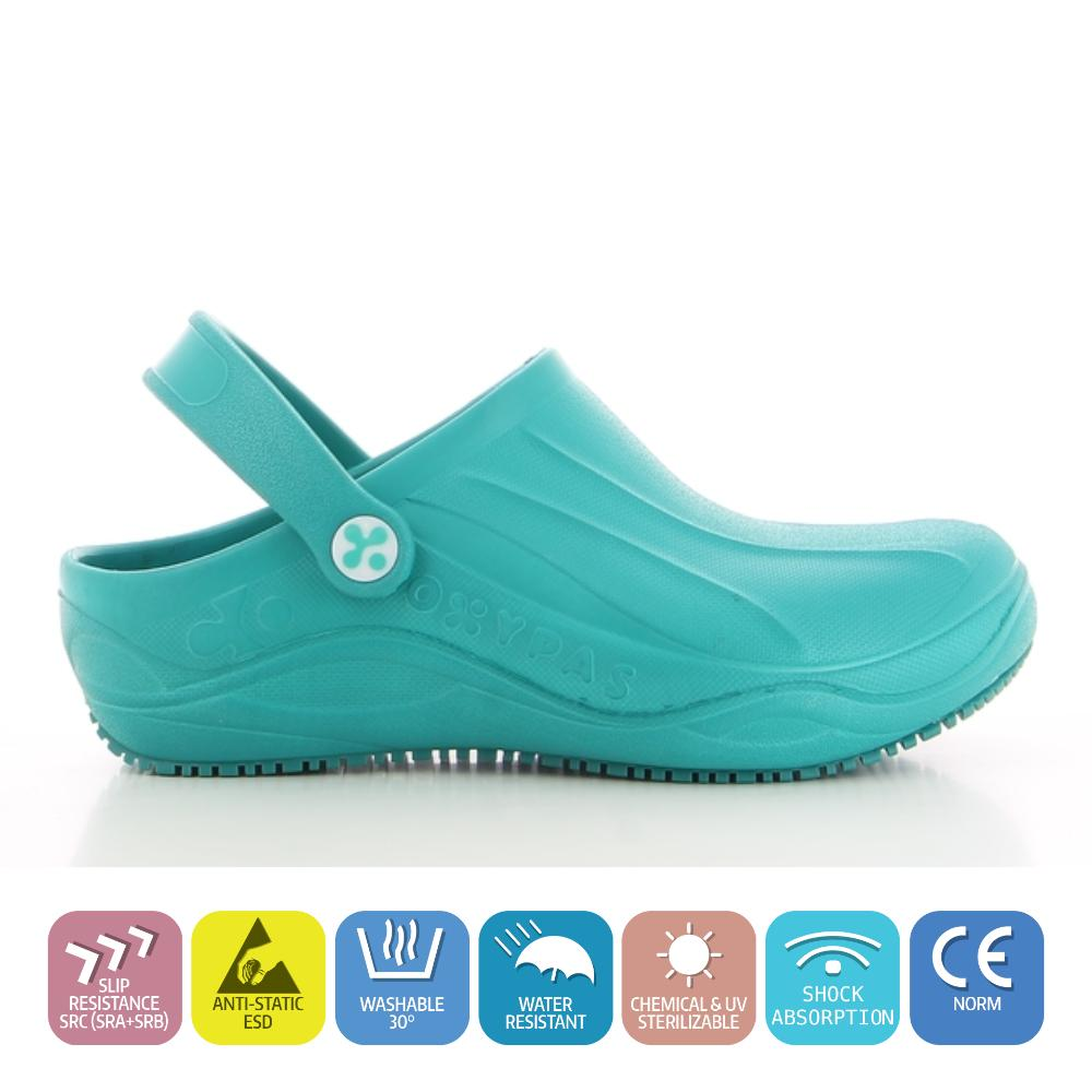 EU 40, Electric Blue Nurses and All Medical Professionals Suitable for Doctors Anti-Static Clog Oxypas Smooth Anti-Slip