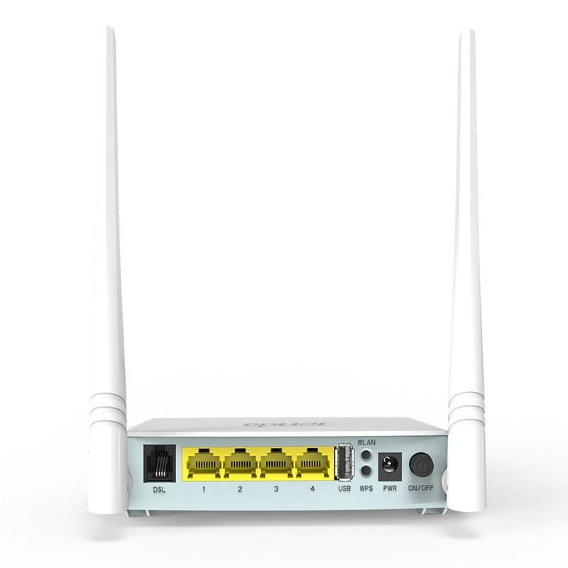 Tenda D301 V2 ADSL2+ N300 Wireless 300mbps Modem Router