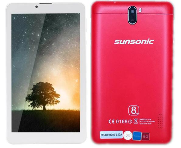 "Sunsonic L10A 7"" 3G Quadcore Dual Sim Cellular Tablet 8GB"