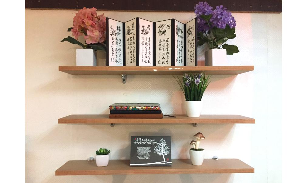 detailed look 81705 a6ecb Korean Floating Wall Shelf (SET OF THREE -- 800mm x160mm x20mm) Board  Color: PB Maple Brown