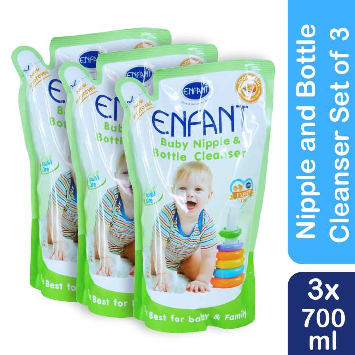 Enfant Nipple and Bottle Liquid Cleanser 700 ml (pack of 3)