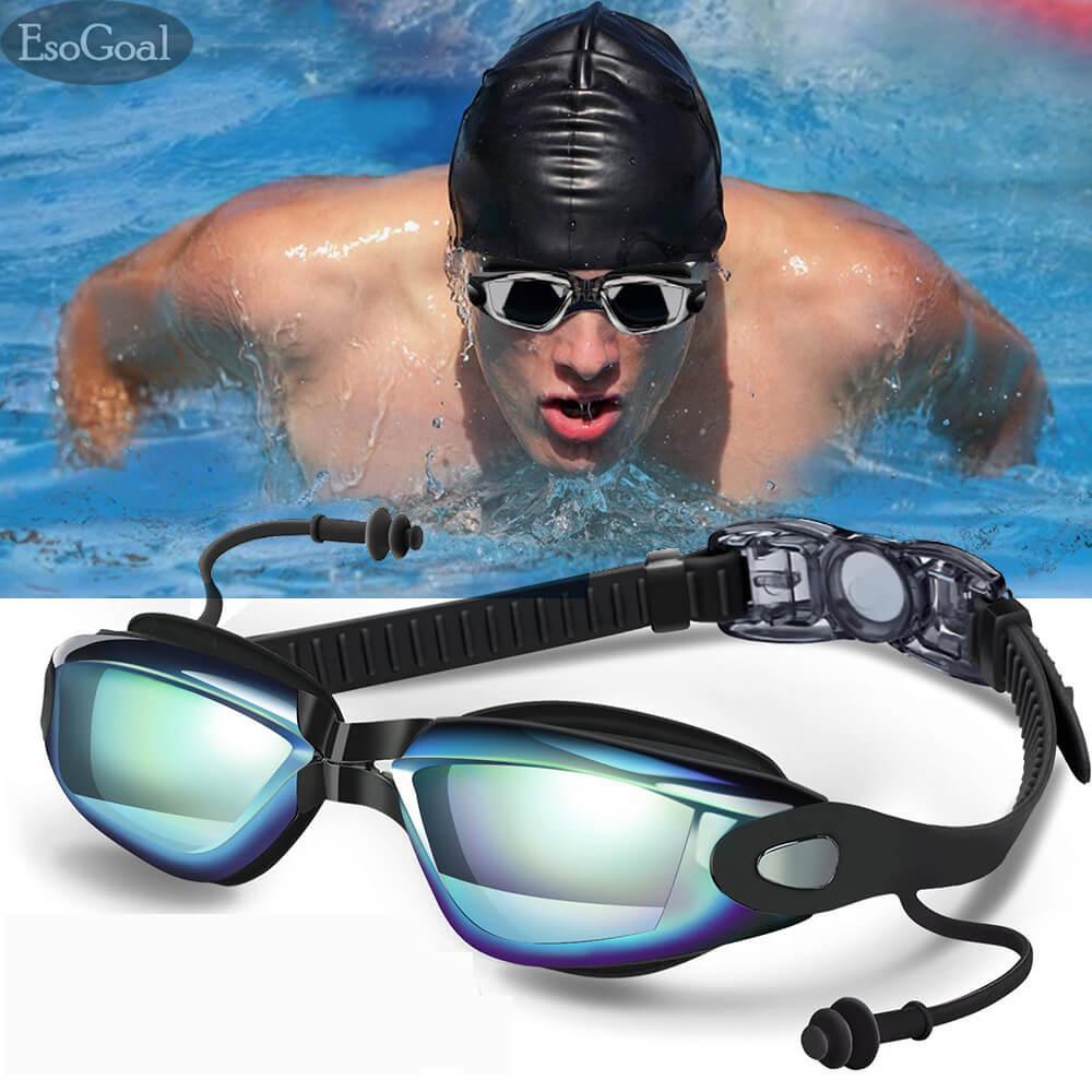 5a1abdc3919 EsoGoal Adult Non-Fogging Anti UV Swim Eyeglass Swimming Goggles (Silver  Gray) - intl