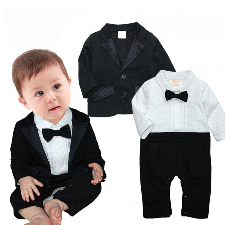 Baby Boy Fancy Black Tuxedo Suit with Bow Tie Set Little Boy Fancy Tuxedo  with Coat Black Tuxedo with Coat Set Fancy Baby Clothes Baby Formal Clothes