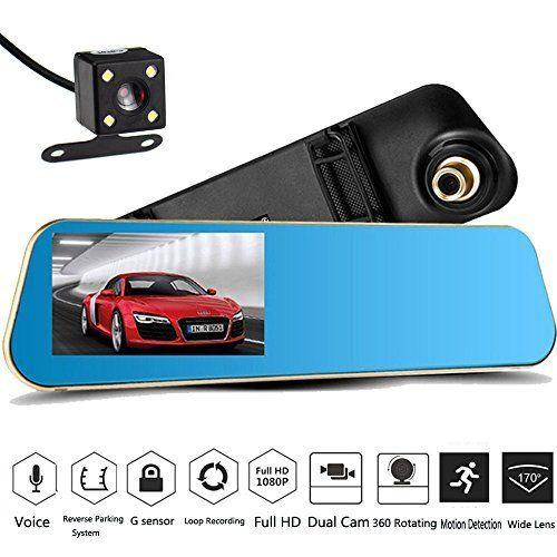 "4.3"" inch Dual Camera 1080P Dashcam Car DVR With Back Cam"