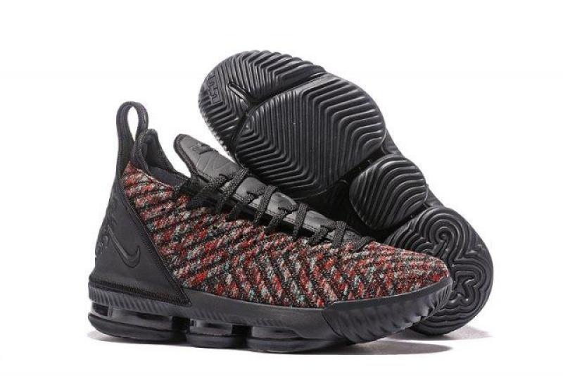 Giá Cực Sốc Khi Mua Nike_new_lebron1616_Black/Nhiều Màu Giày Bóng Rổ Nam NBA New_lebron16 James Giày