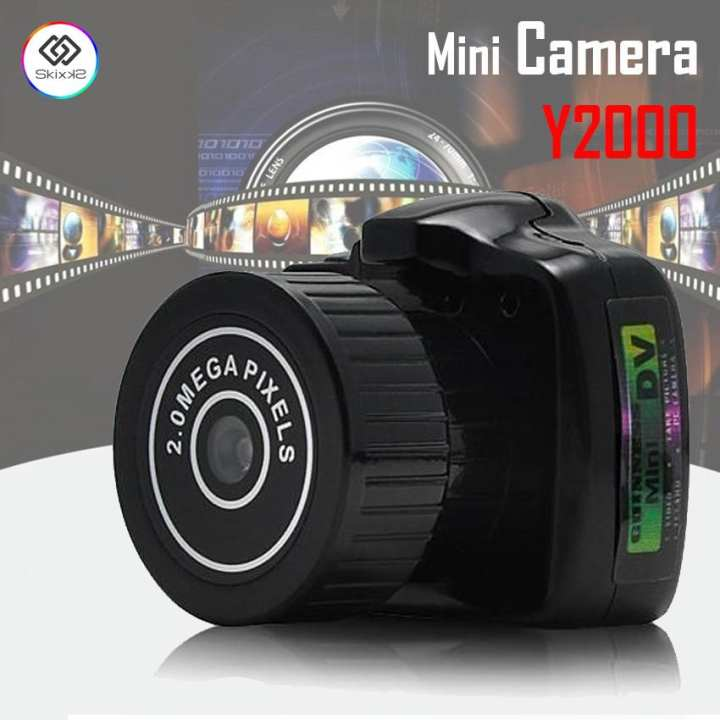 Y2000 2MP HD Smallest Mini DV Digital Camera Camcorder Mini Hidden Spy Cam (Black)