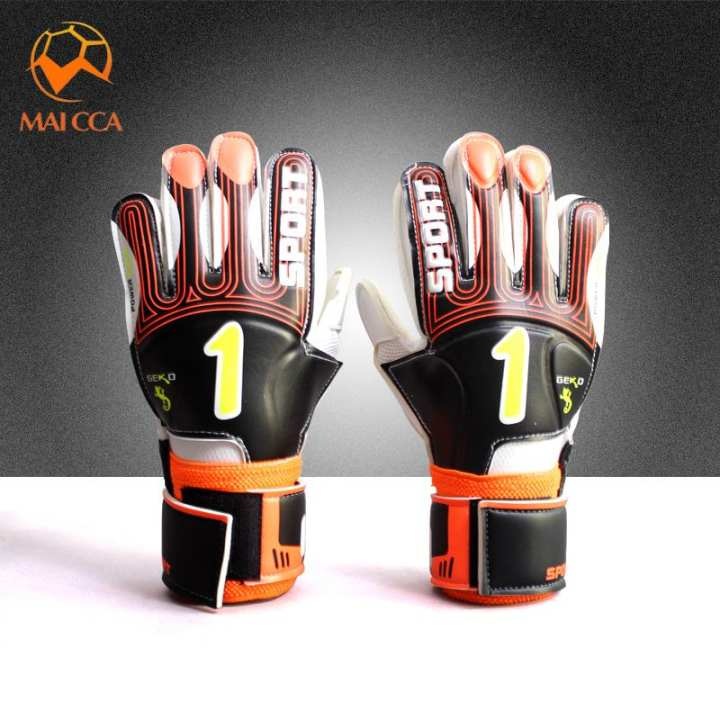 Lanqi Finger Protection Goalkeepers Glove Team Sports Football Goalkeeper Gloves