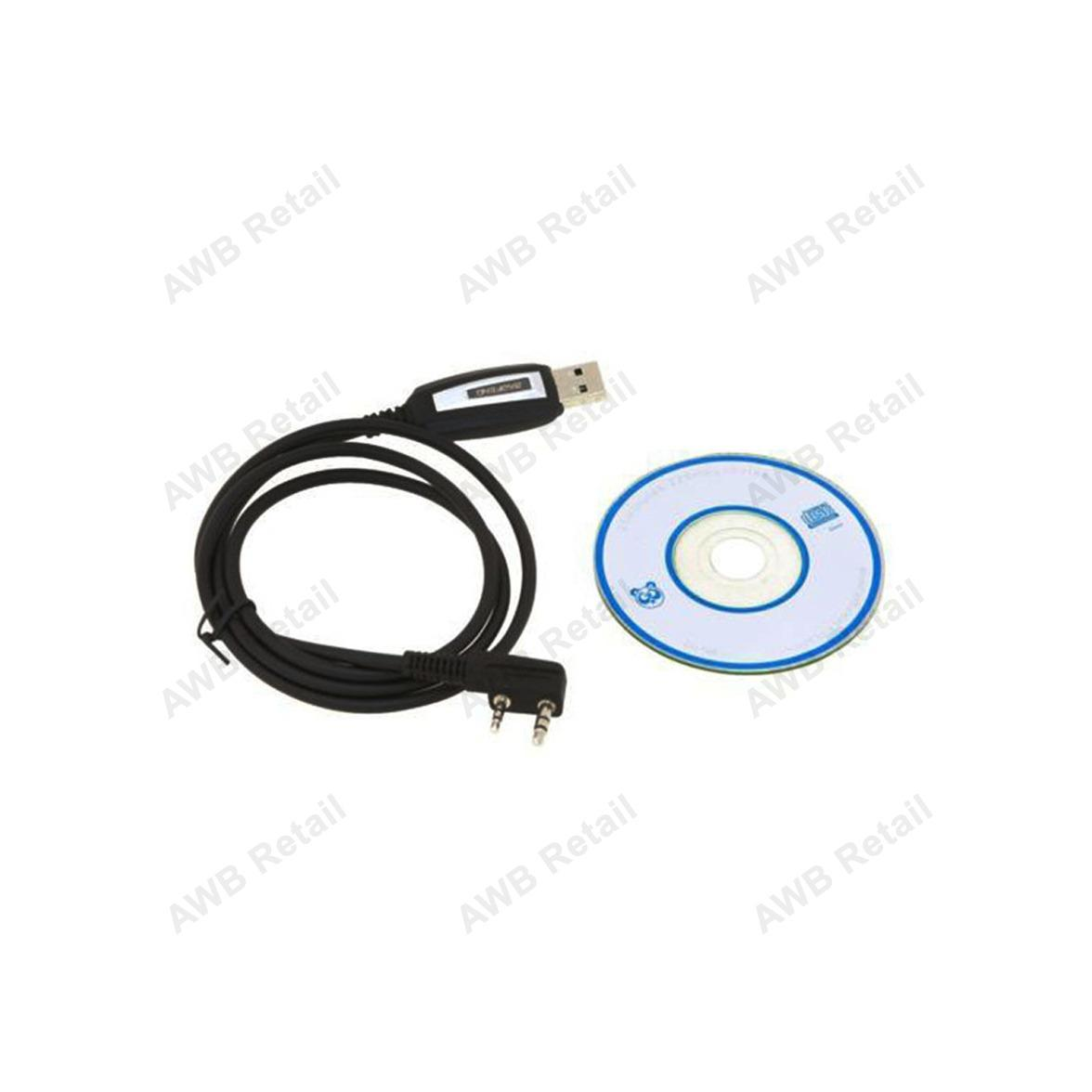 Original USB Programming Cable Program Software CD for Baofeng  UV-5R/UV-5RE, BF-888S Radios, Baofeng UV-82, WLN KD-C1, WH-27