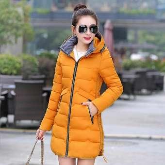 เพิ่มขนาดใหญ่พิเศษเสื้อผ้าผ้าฝ้ายหญิงรุ่นยาวปานกลางสไตล์เกาหลีสลิมไขมันมิลลิเมตรฤดูหนาว 2019 ไซส์พิเศษไซส์ใหญ่พิเศษเสื้อผ้าหญิงเสื้อผ้าฝ้าย 200 ปอนด์นุ่น-