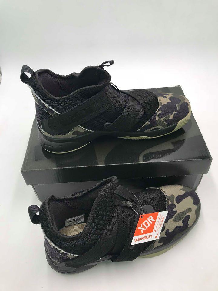 online retailer 4fb84 af898 LeBron Soldier XII 12 SFG Camo Black Hazel Rush Black Men's Footwear NBA  LeBron James Basketball Shoes