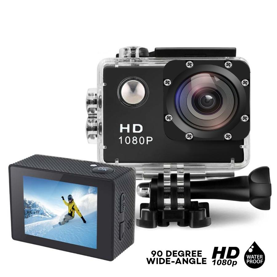 "LHR A7 Sports Camcorder HD 1080P 2.0"" LCD Screen Sports Action Camera with Waterproof Case"
