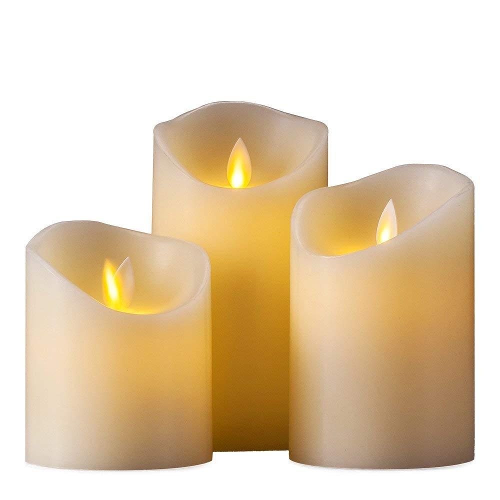 Flameless Battery Operated LED Plain Candles 7.5x15cm image