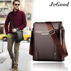 JvGood Messenger Bag PU Leather Men Bag Sling Shoulder Crossbody Bag Casual Business Men Fashion