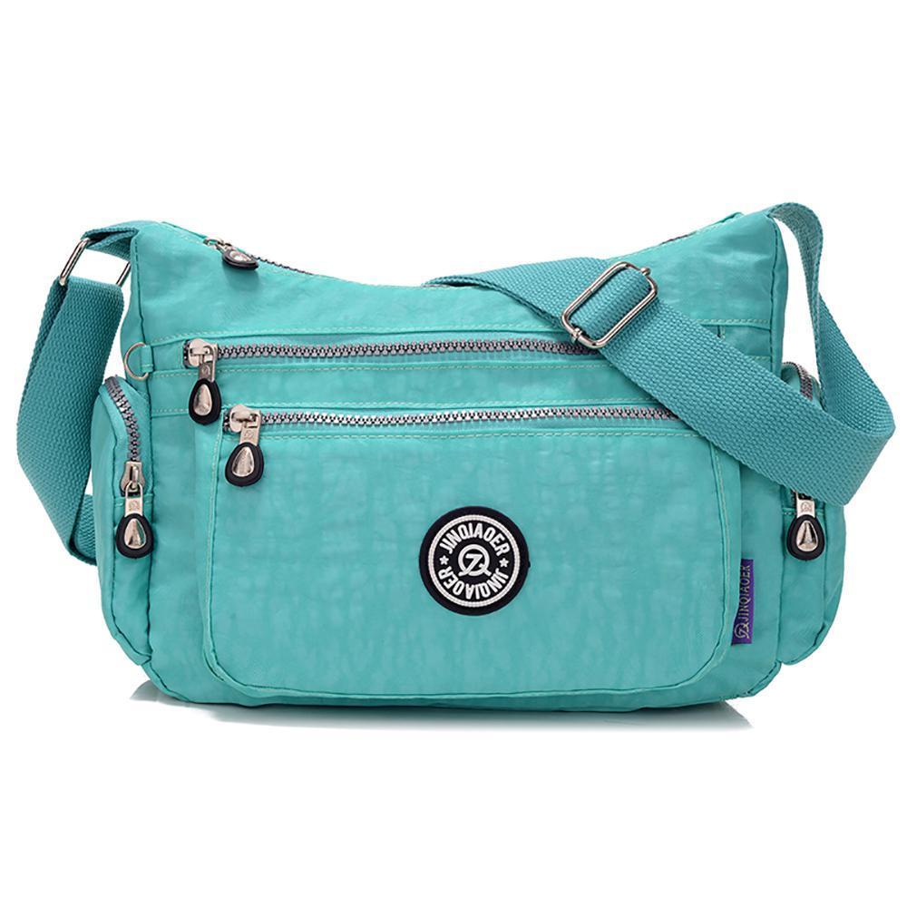 niceEshop Waterproof Nylon Multi-pocket Women Messenger Bag (Burgundy) | Lazada PH