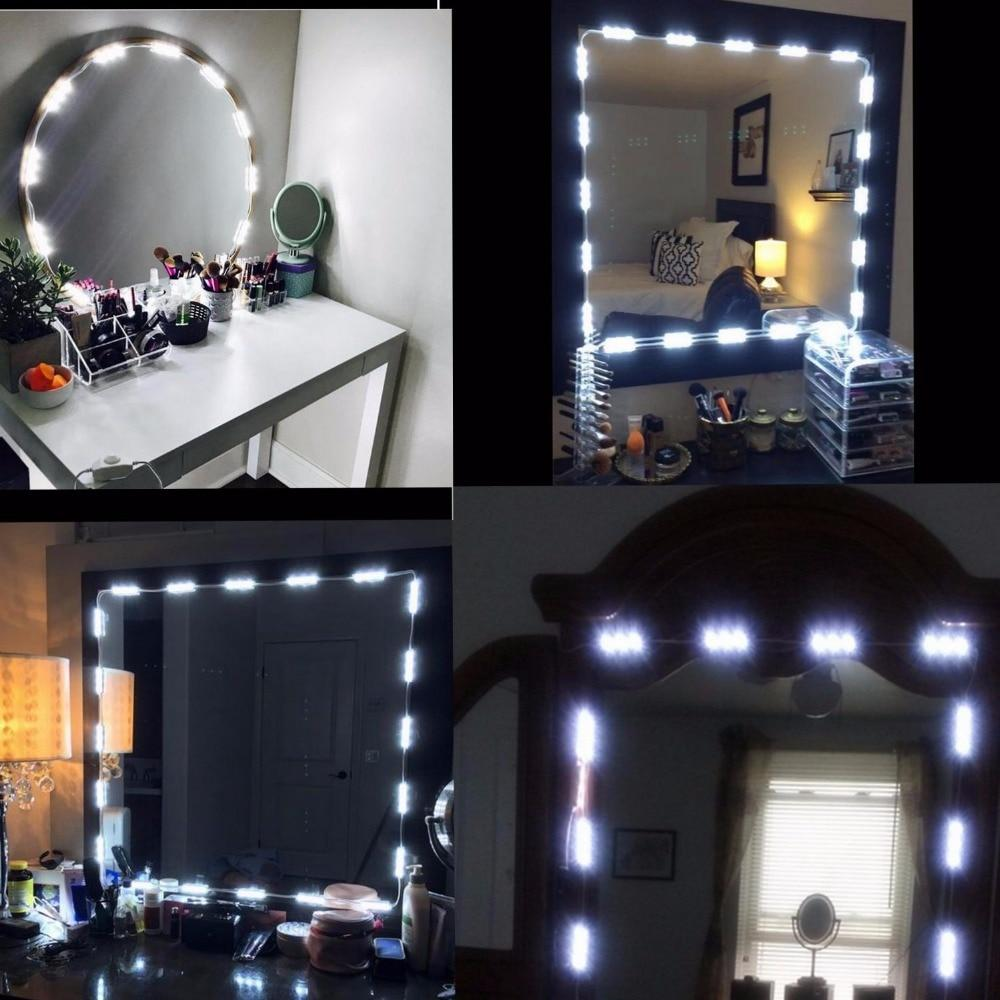 Vanity Mirror With Lights.Makeup Vanity Mirror Lights Dimmable 60 Leds 9 8ft Diy Led Make Up Light Kit 2800lm For Cosmetic Mirrors Kitchen