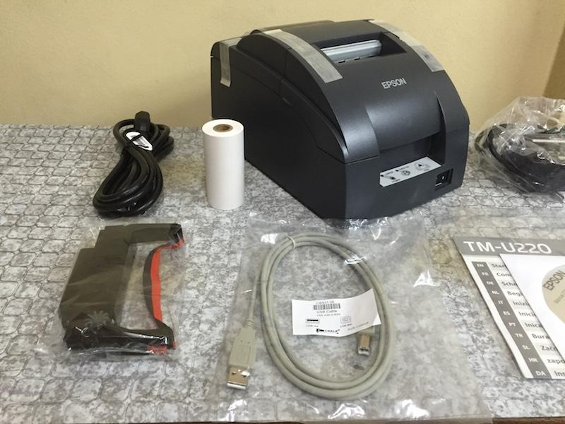 Epson TMU220 PD Dot Matrix Receipt USB Printer (Manual-cut)