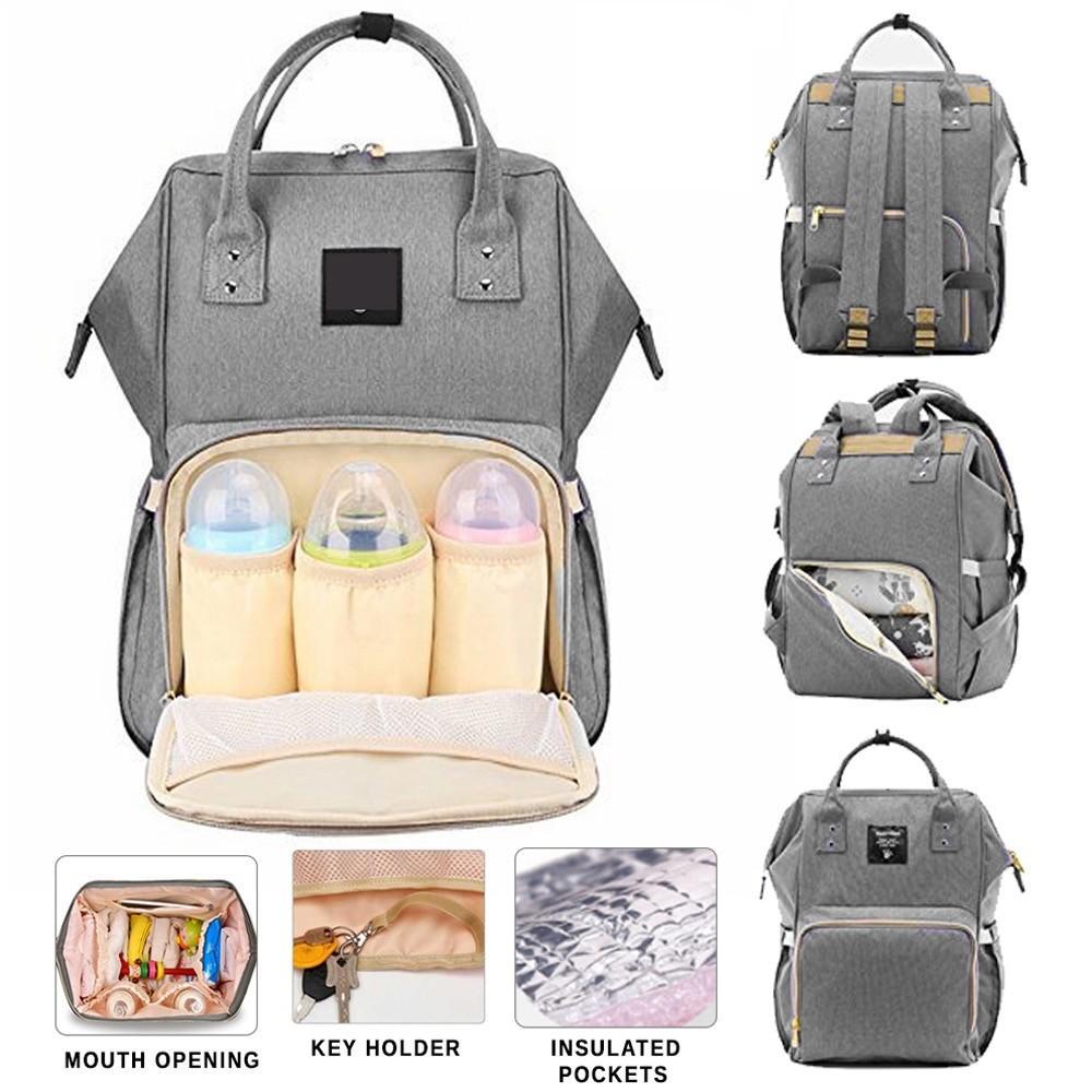 02ca552111ac Diaper Bag Mummy Bag Nappy Bag Mommy Bag Baby Bag Diaper Backpack Big  Capacity Diaper Backpack Multifunctional Diaper Bag Large Mommy Bag  Backpack ...