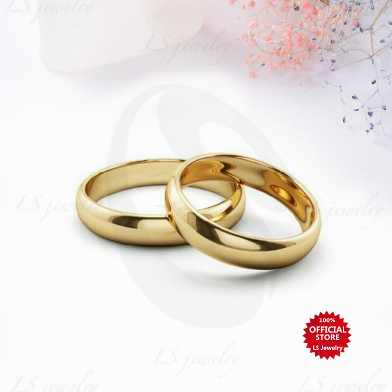 749e8a9690732 LS Jewelry Buy 1 Take 1 stylish simple stainless steel gold-plated Couple  Ring Unisex