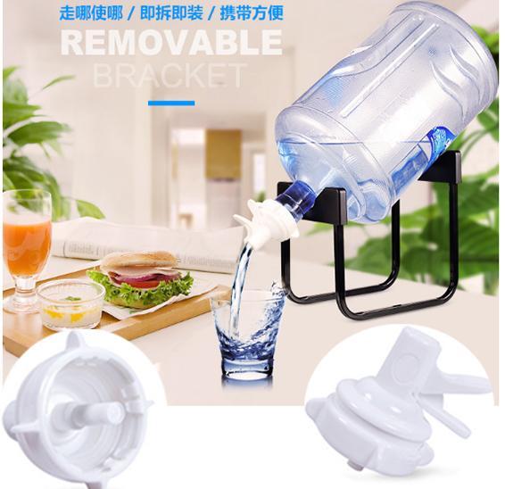Water Dispenser Drinking Bucket Pure Mineral Water Folding Rack Detachable  Bracket Bottled Water Hand Press Type