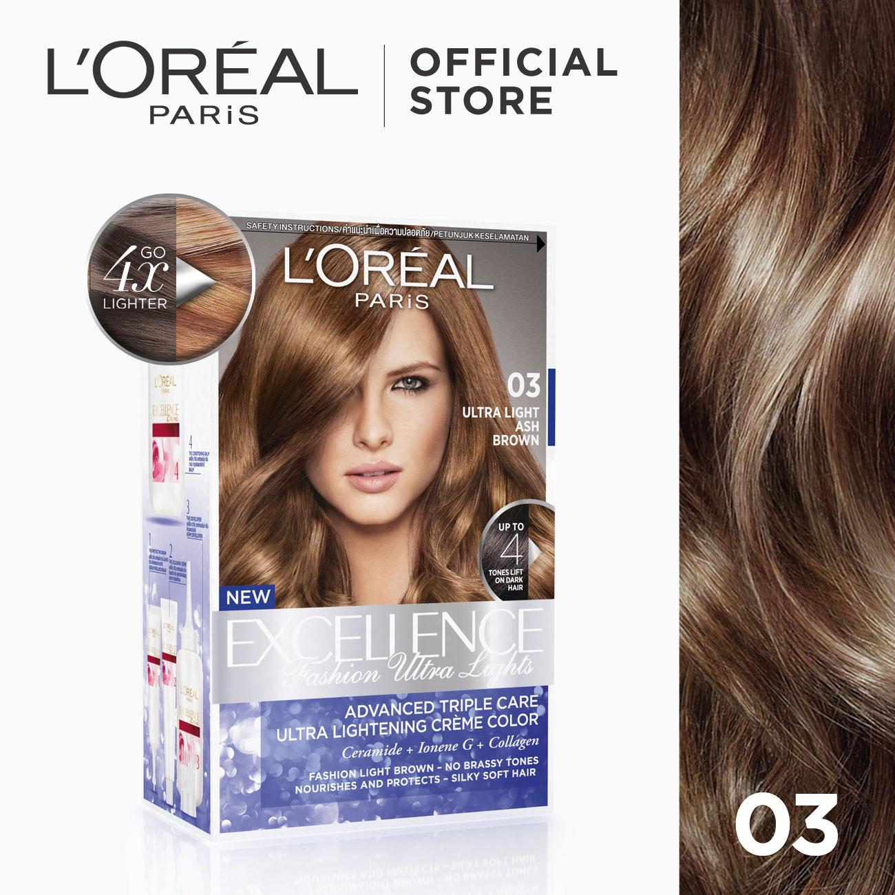 Excellence Fashion Ultra Lights Hair Color 03 Ash Brown World S
