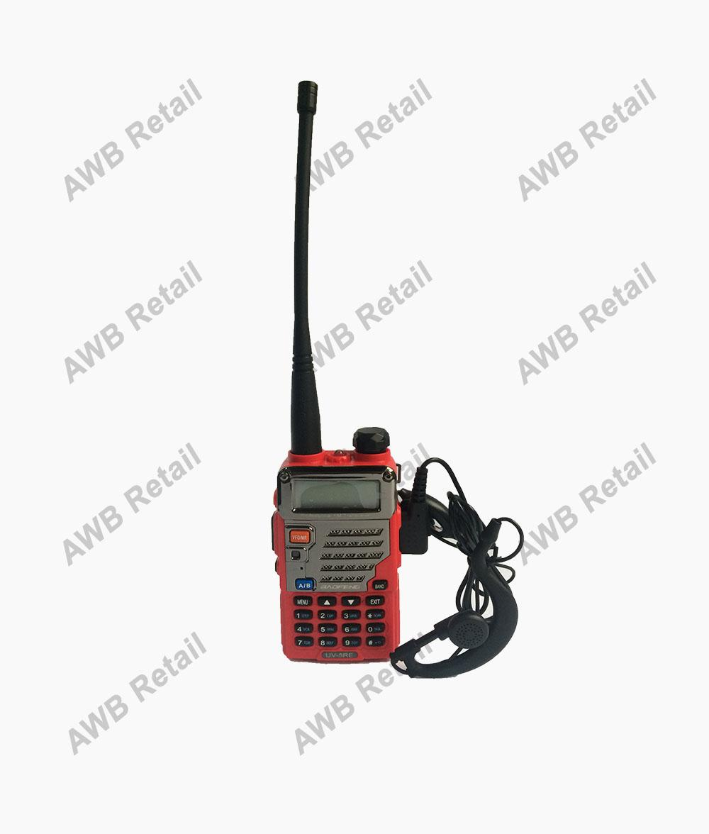 Original Baofeng / Pofung UV5RE VHF/UHF Dual Band Two-Way Radio (Red) with FREE Earpiece