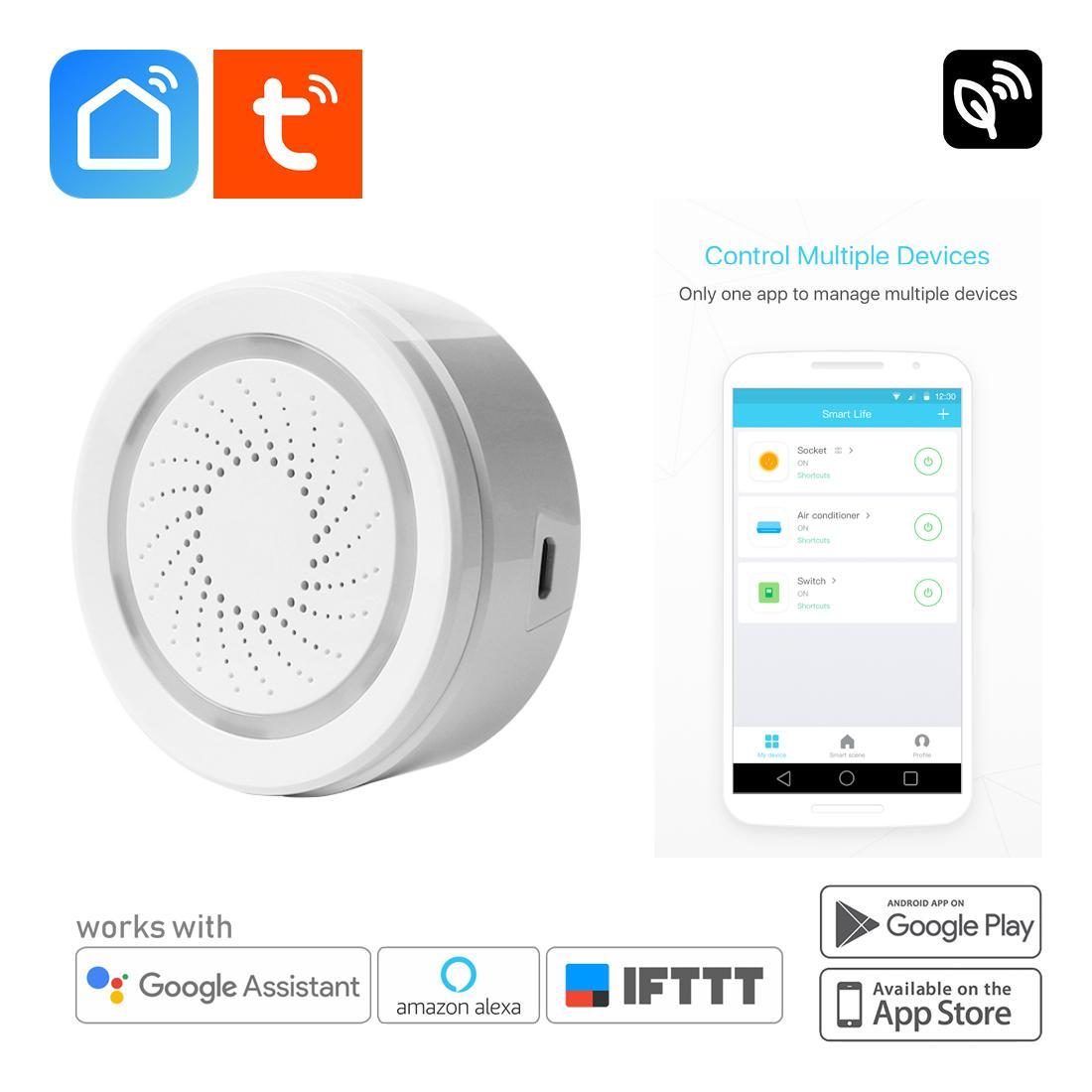 SMART WIFI Alarm Siren Doorbell Speaker - Smart Home Automation IOT, App  Remote Control, TUYA / SMART LIFE