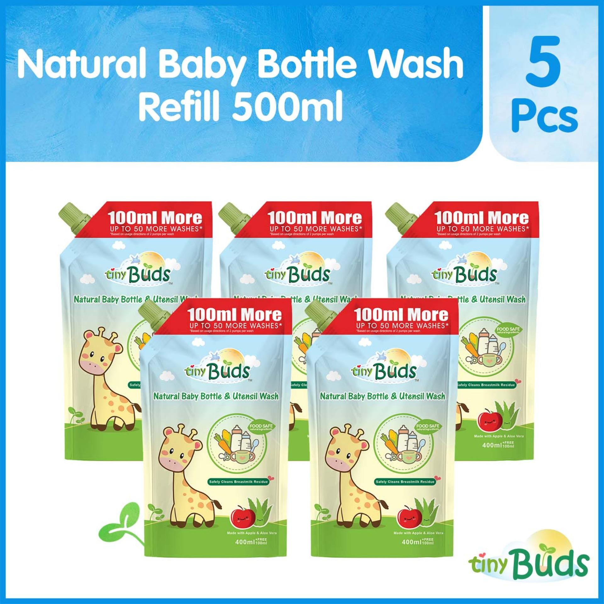 Tiny Buds Baby Bottle and Utensil Wash 500ml Set of 5